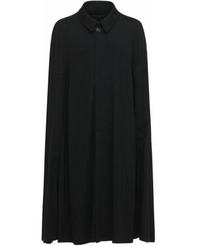 Narzutka wełniana - czarna Yohji Yamamoto