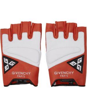 Кожаные перчатки без пальцев черные Givenchy