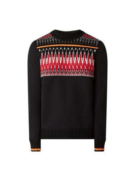 Prążkowany czarny sweter wełniany Bogner Fire + Ice