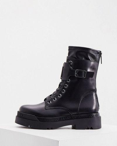 Кожаные ботинки - черные Liu Jo