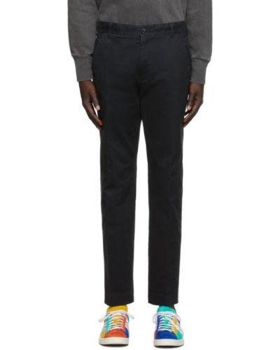 Bawełna bawełna czarny spodnie z paskiem Aime Leon Dore