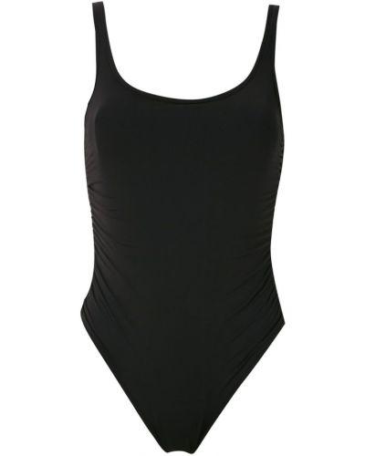 Открытый черный купальник с открытой спиной с подкладкой Amir Slama