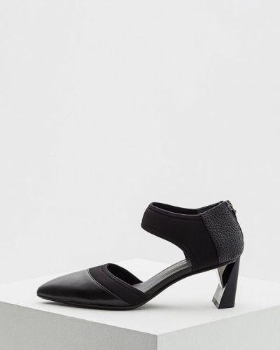 Черные кожаные туфли с открытыми боками United Nude
