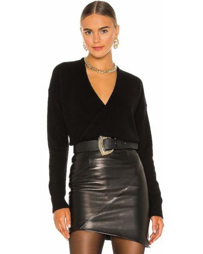 Повседневный черный шерстяной свитер 360cashmere