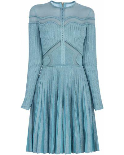 Платье мини трикотажное прозрачное Elie Saab