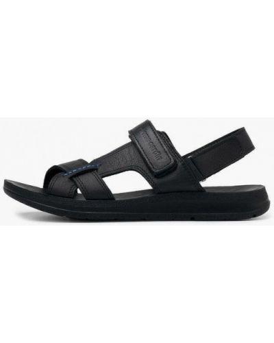 Черные кожаные сандалии Pierre Cardin