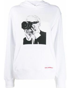 Свитер с капюшоном длинный Karl Lagerfeld