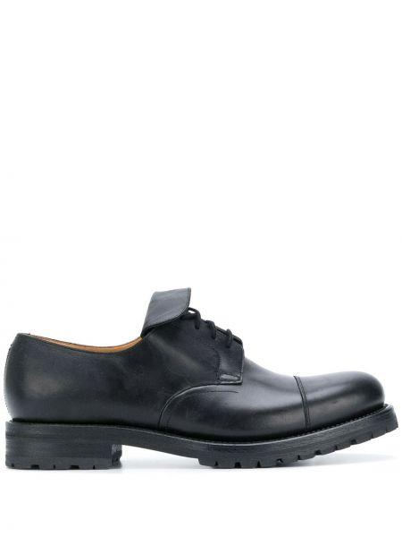 Кожаные черные туфли на шнуровке на шнуровке Holland & Holland