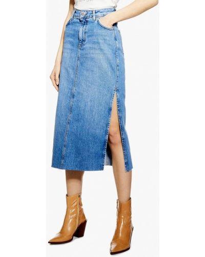 Джинсовая юбка синяя турецкий Topshop