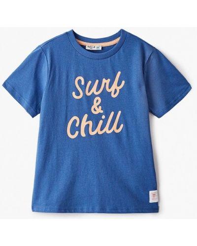 Синяя с рукавами футболка Sela