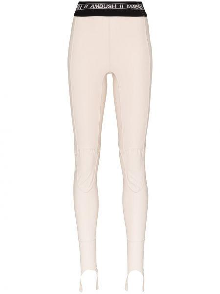 Beżowe legginsy z nylonu Ambush