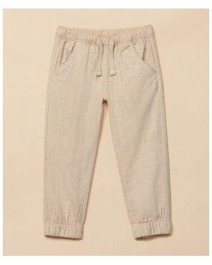 Льняные бежевые брюки Mothercare