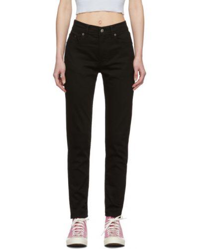 Czarny jeansy z kieszeniami z łatami Acne Studios