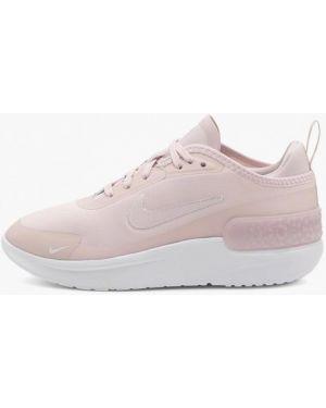 Розовые текстильные кроссовки Nike