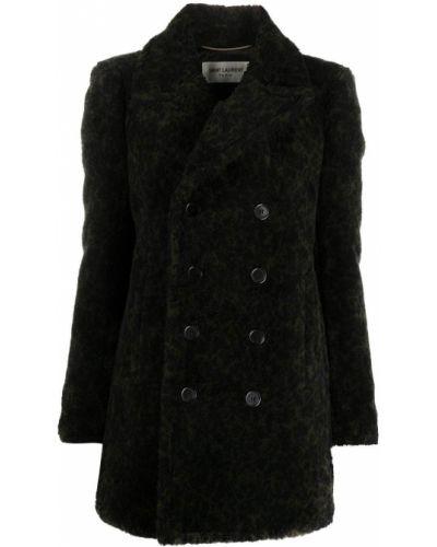 С рукавами шерстяной черный бушлат Saint Laurent