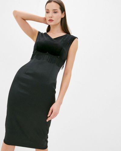 Черное вечернее платье Nelva