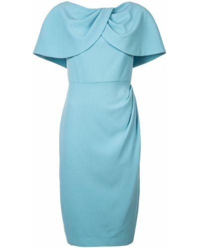Облегающее платье миди - синее Christian Siriano