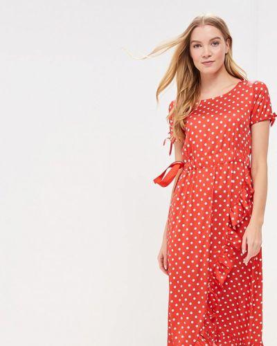 Платье весеннее красный Trendyangel