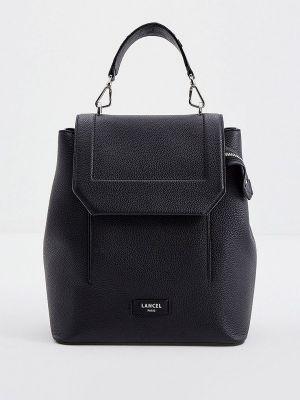 Черный итальянский рюкзак Lancel