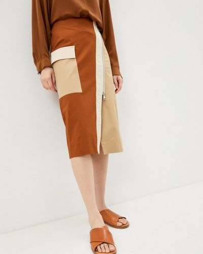 Коричневая прямая юбка карандаш Beatrice.b