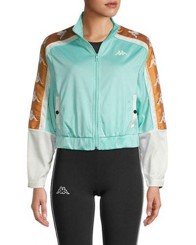 Зеленая длинная куртка с воротником с карманами Kappa
