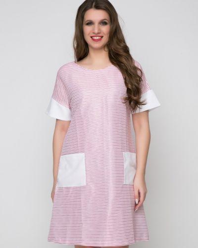 С рукавами свободное летнее платье с карманами свободного кроя Belluche