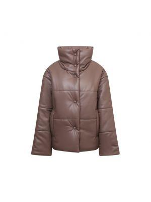 Коричневая куртка из экокожи Nanushka