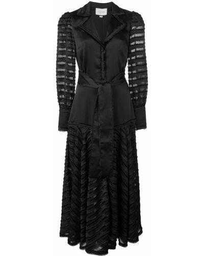 Платье макси на пуговицах плиссированное Alexis