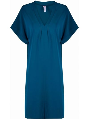 Niebieski sweter z dekoltem w serek Eres