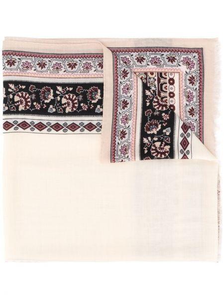 Шерстяной платок в цветочный принт Etro