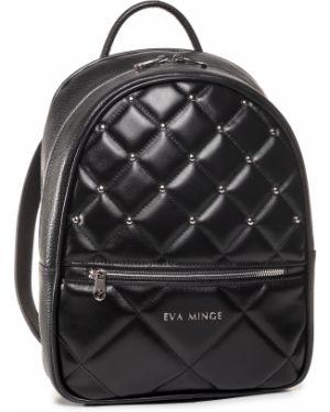 Czarny torba sportowa na co dzień z niskim stanem Eva Minge
