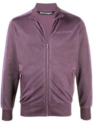 Prosto fioletowy długa kurtka z kieszeniami z długimi rękawami Palm Angels