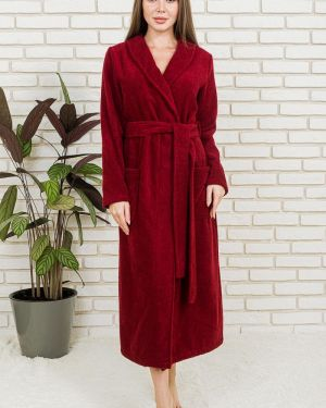Махровый домашний халат с поясом с запахом Lika Dress
