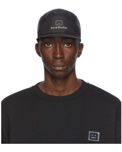 Nylon czarny czapka z daszkiem Acne Studios