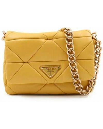 Żółta torebka Prada