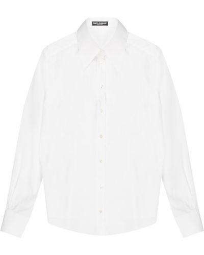 Блузка с длинным рукавом с воротником-стойкой прямая Dolce&gabbana
