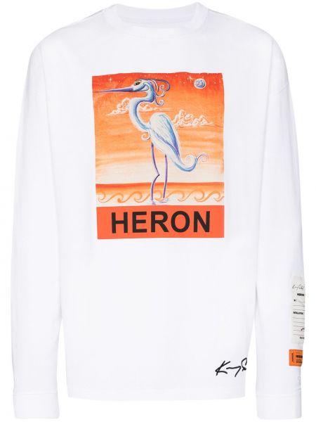 Biały bawełna prosto koszula okrągły dekolt Heron Preston