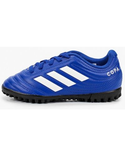 Синие кожаные бутсы Adidas