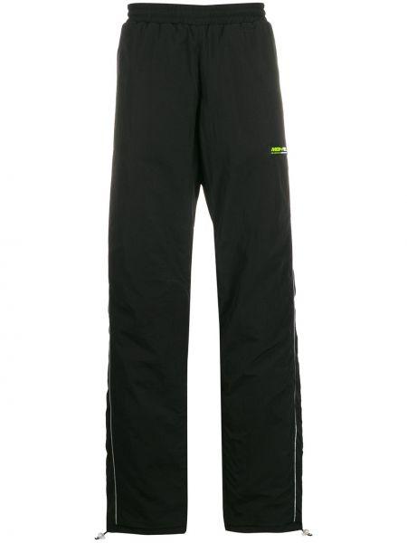 Czarne spodnie z wiskozy Misbhv