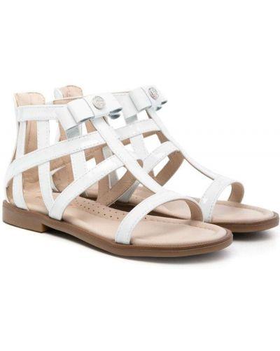 Открытые белые кожаные сандалии Florens