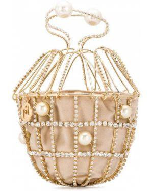 Zielona złota kopertówka perły Rosantica