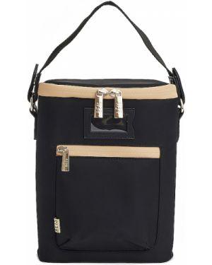 Ciepła czarna torebka z nylonu Beis