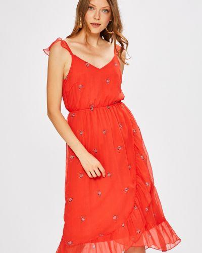 Платье миди с V-образным вырезом на бретелях Vero Moda