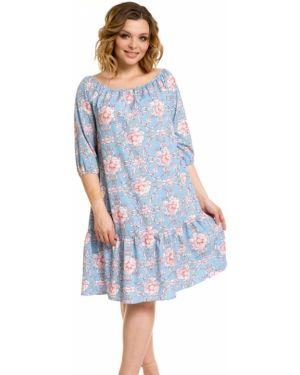 Летнее платье с цветочным принтом повседневное Novita