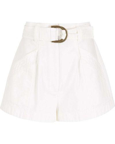 Белые шорты с завышенной талией Nk