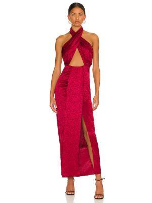 Шелковое вечернее платье - бордовое Ronny Kobo