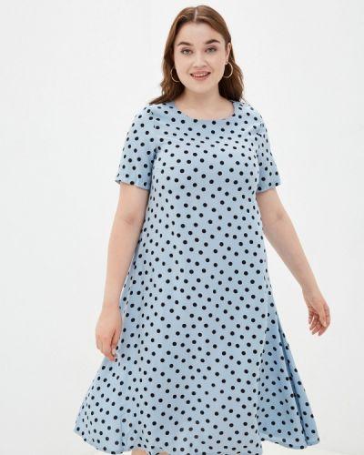 Голубое повседневное платье Prewoman