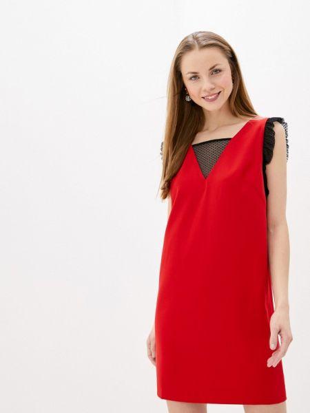 Вечернее платье осеннее красный Villagi