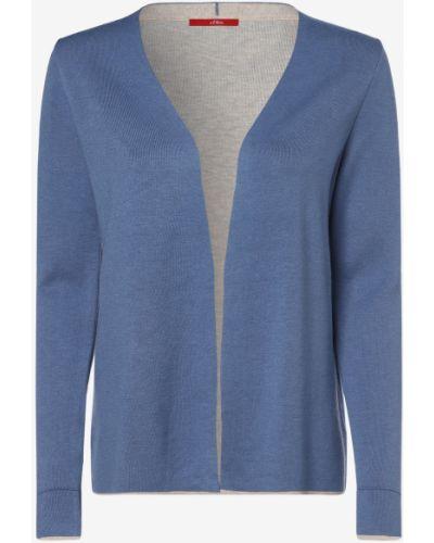 Niebieski garnitur elegancki dzianinowy S.oliver