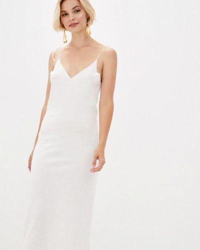 Прямое белое платье Nataclub
